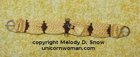 Scale Miniature Woven Girth by the Unicorn Woman