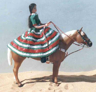 Charra Sidesaddle with rider