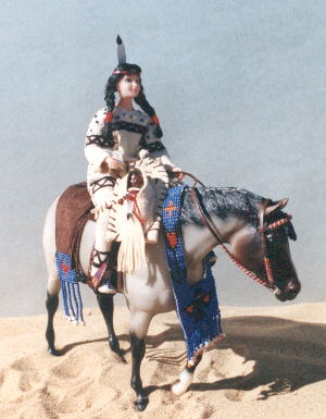 N.A. Lady's Costume with Rider